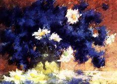 Cornflowers by Stefan Luchian. still life Still Life Flowers, Social Art, Art Database, Art For Art Sake, Flower Art, Modern Art, Artist, 1 Februarie, Artworks