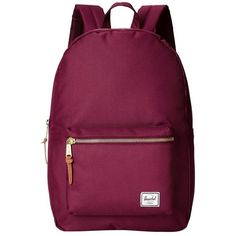 Herschel Supply Co. Settlement (Windsor Wine) Backpack Bags ($60) ❤ liked on Polyvore featuring bags, backpacks, leather laptop bag, day pack backpack, leather knapsack, genuine leather backpack and laptop rucksack