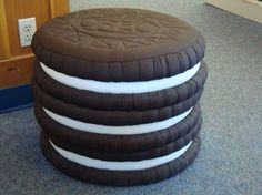 Stacked Oreo's Cookies cushions!...