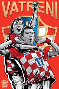 4. Croatia | Community Post: An Artist Created 32 Incredible Posters For Each Team In The FIFA World Cup