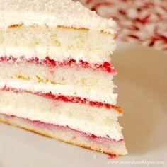 Raspberry Lemon Coconut Cake
