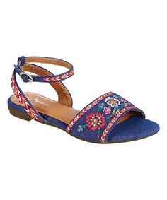 Blue Denim Summer Sandal | zulily