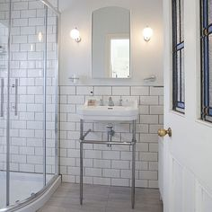 White Victorian-style shower room | Shower room ideas | Bathroom | PHOTO GALLERY | Ideal Home | Housetohome.co.uk