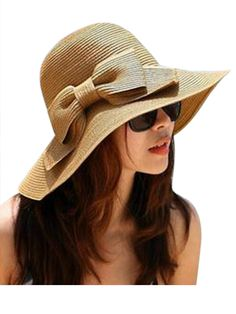 147cb054fd1 New Women Lady Summer Sun Visor Floppy Folding Wide Brim Hat Beach Straw  Hat Cap