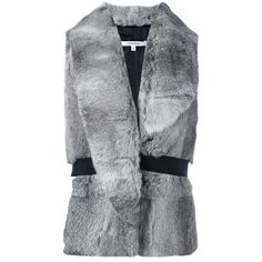 Carven Faux Fur Waistcoat With Belt (£510) ❤ liked on Polyvore featuring outerwear, vests, beige, fake fur vests, faux fur vests, beige vest, waistcoat vest and vest waistcoat