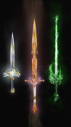 The 3 enchanted blades by Random223.deviantart.com on @DeviantArt