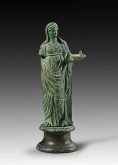 Etruscan bronze vestal virgin figurine C.100BC
