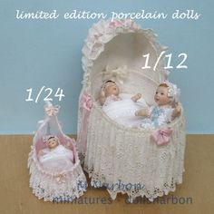 Baby, porcelain doll, scale 1/12. €55.00, via Etsy.