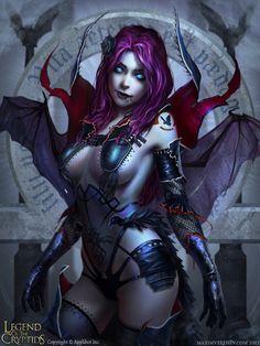 Halloween special- Demon girl by ~Verehin on deviantART