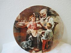"NORMAN ROCKWELL ""THE TOYMAKER"" DECO 8.5"" PLATE"