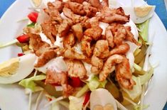 Károlyi saláta roston csirkecsíkokkal | Receptkirály.hu Shrimp, Bors, Red Peppers