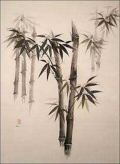 Sumi-e Artwork Ink Art Bamboo Japanese Ink Painting, Sumi E Painting, Chinese Painting, Chinese Art, Chinese Brush, Bamboo Drawing, Bamboo Art, Bamboo Tattoo, Japon Illustration