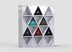 Concepto de packaging triangular para los zapatos Air Jordan