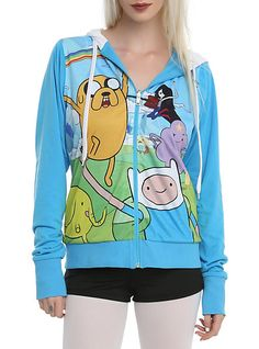 Adventure Time Finn Costume Girls Hoodie | Hot Topic