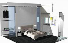 Progetto architettura progettazione di cabina armadio, realizzato da Ivan Saccomani-I progettisti, modelli architettura progetto rendering 3d texture su Syncronia.