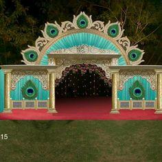 Wedding Reception Table Decorations, Wedding Mandap, Wedding Flower Decorations, Wedding Stage Design, Wedding Suite, Cradle Ceremony, Housewarming Decorations, Ganapati Decoration, Peacock Decor