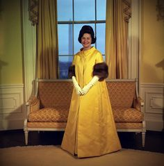 Lady Bird Johnson's 1965 Inaugural Gown designed by John Moore