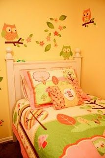 This is the bedding set I want to get her form Target- Love n Nature Owl collection...Plus she wants pink and green so perfect!