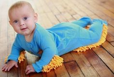 Baby Mop: Put That Baby To Some Use. Too funny!