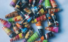 Paper+beads+'fast+food+junkie'+upcycled+recycled+by+BeadNutters,+£3.00