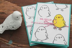 Honeycomb Happiness Card Tutorial by Tweet Crafts. This cute card is perfect for Easter or just to say hello. Stamp set is from Stampin' Up! Honeycomb Happiness, in the Sale-A-Bration 2016.