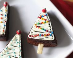 Christmas Tree Brownies Recipe - Cakes & Baking
