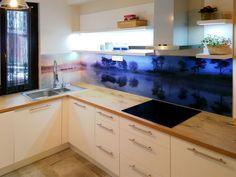 Nyomtatással dekorált üveg konyha hátfal ötletek - videó: mediterrán stílusú hátfal...