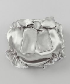 Gray Bow Ruffle Diaper Cover - Infant #zulily #zulilyfinds