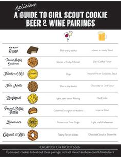 Girl Scout Cookie Beer & Wine Pairings