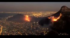After raging through Sunday evening, the Cape Town fire seems to have calmed. However, this footage from above showed just how fierce the blaze got.