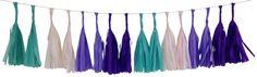 Tissue Paper Tassel Garland Kit Enchanted - 16 Tassels