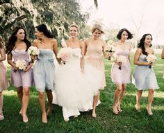 Wedding Fashions – Mismatched Bridesmaid Dresses #tulleandchantilly
