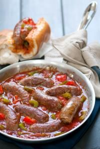 A quick and easy Italian recipe using a jar of our Pomodoro Fresco Roasted Garlic Pasta Sauce and sweet Italian sausage. Make a quick sauce for your Italian Sausage Sandwiches, serve over polenta or penne pasta. Italian Sausage Sandwich, Sausage Sandwiches, Sweet Italian Sausage, Italian Sausages, Sausage Recipes, Pork Recipes, Cooking Recipes, Easy Recipes, Bratwurst Recipes