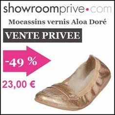 #missbonreduction; Vente privée : 49 % de réduction sur les Mocassins vernis Aloa Doré chez Showroomprive. http://www.miss-bon-reduction.fr//details-bon-reduction-Showroomprive-i853029-c1835292.html