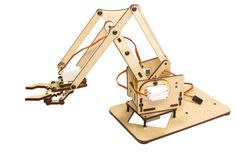 Up for sale is an awesome little open source robotic arm! Just add an Arduino or other controller and you have a fully functioning mini factory