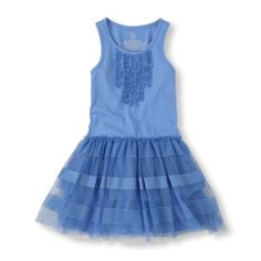 Easter pic outfit for Maddy (it's going to be hard to convince my little tomboy to wear a dress, but maybe this awesome color will ease it over)!! mesh stripe tank dress