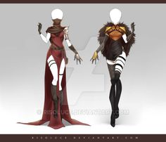(OPEN) Adoptable Outfit Auction 215 - 216 by Risoluce on DeviantArt Character Costumes, Character Outfits, Character Art, Dress Drawing, Drawing Clothes, Fashion Design Drawings, Fashion Sketches, Anime Outfits, Cool Outfits