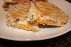 Never trust a skinny cook....: Roasted jalapeno grilled cheese