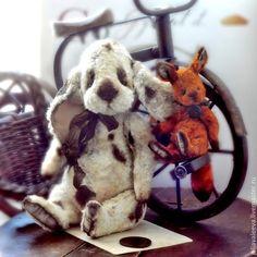 Жером - антикварный,тортюр,плюшевый,зайчик,заяц,шарнирный,старинный,антик