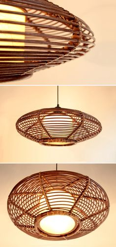 Wholesale New Handmade Modern Rattan Ceiling Pendant Lamp Lighting Fixture Chandelier Light, Free shipping, $130.43/Piece | DHgate