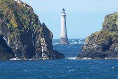 Chicken Rock lighthouse, Isle of Man, UK