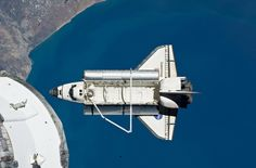 Space Shuttle Discovery  Space shuttle Discovery after leaving the International Space Station on March 7, 2011 during STS-133.