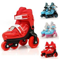 New Kids Roller Skates Three-Point Steady Inline Skates Rollerblade For Beginner