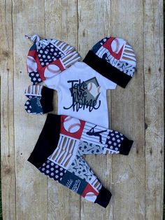 Baby Boy Baseball Coming Home Outfit, Take me Home Boys Outfit, Navy Red Hospital Take Home Newborn Outfit, Baby Layette, Baby Shower Gift by DarlinDivasandDudes on Etsy Newborn Boy Clothes, Newborn Outfits, Baby Boy Newborn, Babies Clothes, Babies Stuff, Baby Boy Baseball, Basketball Baby, Baseball Nursery, Camo Baby