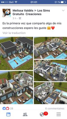 Sims Freeplay Houses, Sims 4 Houses, Architecture Design, Sims 4 House Design, Sims Free Play, Sims Ideas, The Sims, House Plans, House Ideas