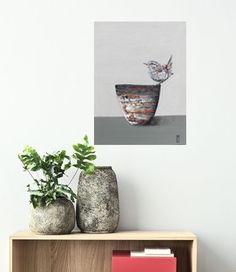 Peinture originale, pigments sur toile Planter Pots, Toile