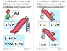 "Distinguish Long & Short ""I"": Lesson 3, Book 1 (Newitt Grade 1 Prereading Series)"