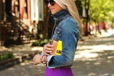 atlantic pacific maxi skirt purple denim jacket