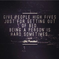 True that!!  High give to all of us people