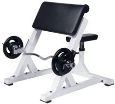 Buy York Barbell 54031 Preacher Curl, White at UnbeatableSale Commercial Gym Equipment, Home Gym Equipment, No Equipment Workout, Bar Workout, Gym Workouts, At Home Workouts, Training Workouts, Weight Training, Diy Home Gym